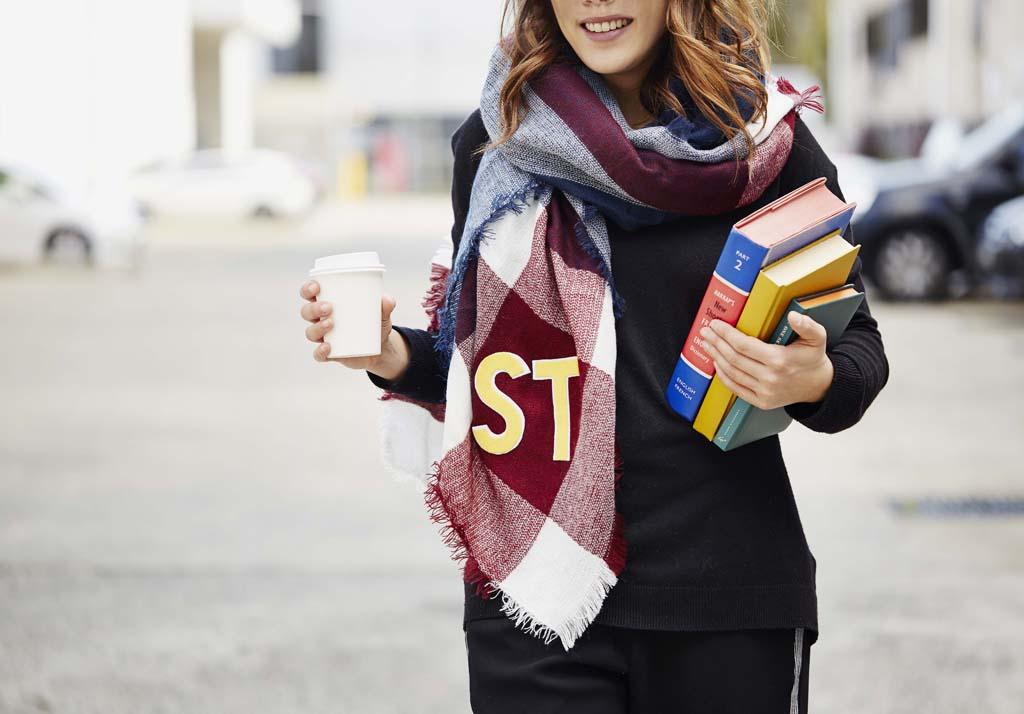 DIY personalised scarf