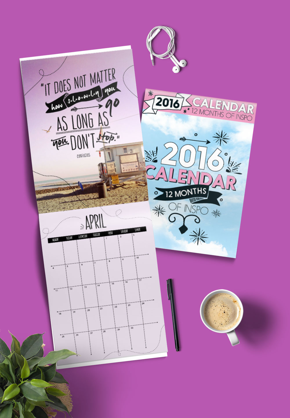 One Year Calendar Design