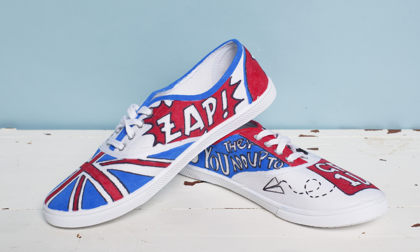 1D shoe print illustration
